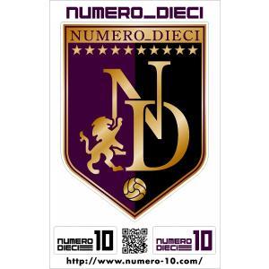 NUMERO_DIECI クラシックエンブレムステッカー【京都カラー】|footballfan