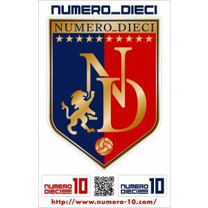 NUMERO_DIECI クラシックエンブレムステッカー【FC東京カラー】|footballfan