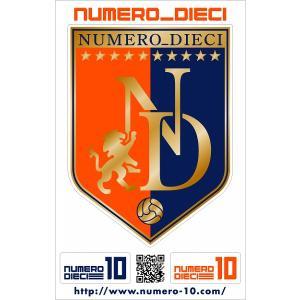 NUMERO_DIECI クラシックエンブレムステッカー【大宮カラー】|footballfan