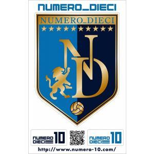 NUMERO_DIECI クラシックエンブレムステッカー【磐田カラー】|footballfan