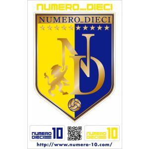 NUMERO_DIECI クラシックエンブレムステッカー【仙台カラー】|footballfan