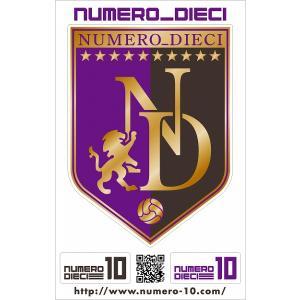 NUMERO_DIECI クラシックエンブレムステッカー【広島カラー】 footballfan