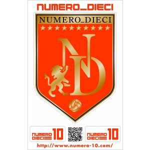 NUMERO_DIECI クラシックエンブレムステッカー【愛媛カラー】|footballfan