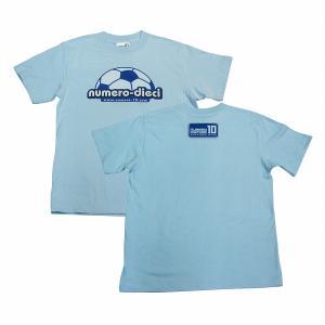 NUMERO_DIECI colore(サッカーボール) Tシャツ〔ライトブルー×ブルー〕|footballfan
