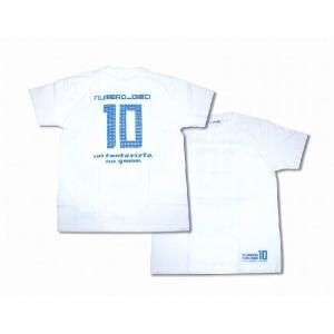 NUMERO_DIECI no fantasista no game.背番号10 Tシャツ〔ホワイト〕 footballfan