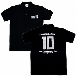 NUMERO_DIECI no fantasista, no game.背番号10 ポロシャツ〔ブラック〕|footballfan