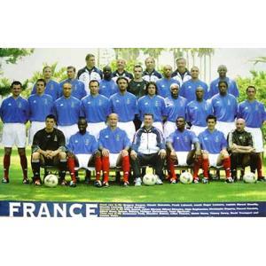 フランス代表 2002 集合写真 ポスター|footballfan