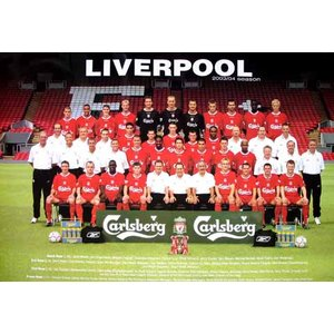 リバプール 2003-2004/集合写真 ポスター|footballfan