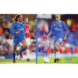 クレスポ&ヴェロン(チェルシー03/04)ポスター|footballfan