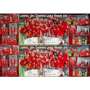 リバプール チャンピオンズリーグ2005 チャンピオン コラージュ(横長) ポスター|footballfan