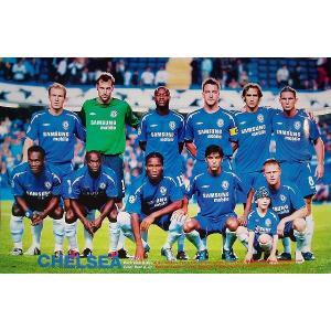 チェルシー 集合写真2005/06(11人) ポスター|footballfan