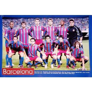 バルセロナ 集合写真(11人) ポスター|footballfan