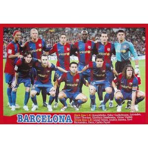 バルセロナ2006/07 集合写真 11人 ポスター|footballfan