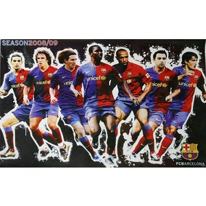 P474 FCバルセロナ2008/2009 集合写真 ポスター|footballfan