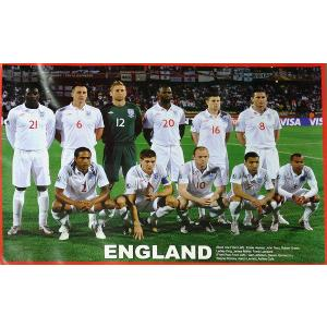 P481 イングランド代表(2010ワールドカップ 南アフリカ) 集合写真 ポスター|footballfan
