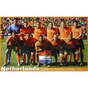 P484 オランダ代表(2010ワールドカップ 南アフリカ) 集合写真 ポスター|footballfan