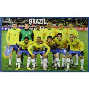 P485 ブラジル代表(2010ワールドカップ 南アフリカ) 集合写真 ポスター|footballfan