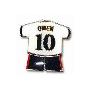 オーウェン(イングランド代表) ユニフォームピンバッジ|footballfan