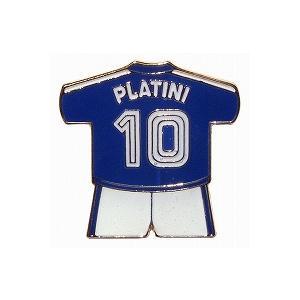 プラティニ/PLATINI10(フランス代表) ユニフォームピンバッジ|footballfan