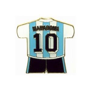 マラドーナ/MARADONA10(アルゼンチン代表) ユニフォームピンバッジ|footballfan