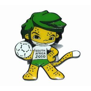 2010南アフリカワールドカップ マスコット ピンバッジ  〔pbw2010-2〕|footballfan