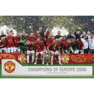 マンチェスターユナイテッド チャンピオンズリーグ優勝2008 ポスター|footballfan