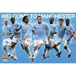 マンチェスターシティ 09/10 選手コンピレーション ポスター|footballfan