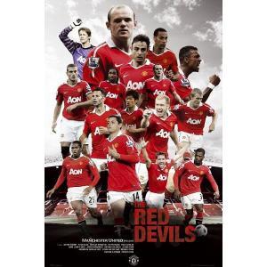 マンチェスターユナイテッド「THE RED DEVILS」選手 ポスター〔psp0723〕|footballfan