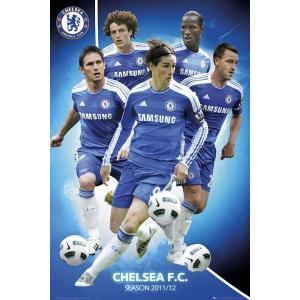 チェルシー 11/12 選手コンピレーション ポスター〔psp0764〕|footballfan
