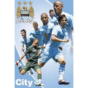マンチェスターシティ 11/12 選手コンピレーション ポスター〔psp0771〕|footballfan