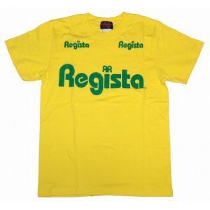Regista ロゴ Tシャツ(イエロー×グリーン)|footballfan
