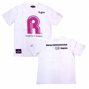 Regista R Tシャツ(ホワイト×ピンク)|footballfan