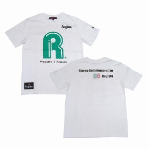 Regista R Tシャツ(ホワイト×グリーン)|footballfan