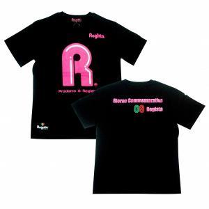 Regista R Tシャツ(ブラック×ピンク)|footballfan