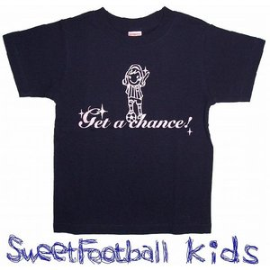 SWEET☆FOOTBALLキッズ Get a Chance Tシャツ(ネイビー×ライトピンク)|footballfan