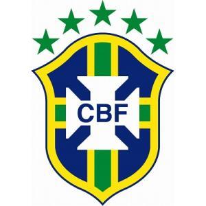 st090 ブラジル代表 エンブレム型ステッカー|footballfan