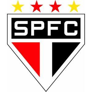 st100 サンパウロFC エンブレム型ステッカー|footballfan