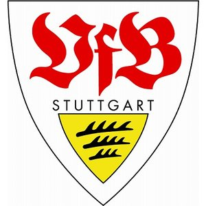 st102 シュツットガルト エンブレム型ステッカー|footballfan