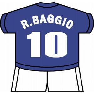 st128 ロベルト・バッジオ(イタリア代表) ユニフォーム型ステッカー|footballfan