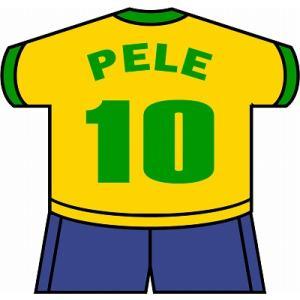st135 ペレ(ブラジル代表) ユニフォーム型ステッカー|footballfan