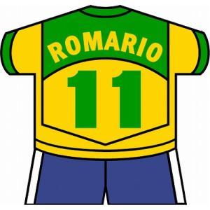 st136 ロマーリオ(ブラジル代表) ユニフォーム型ステッカー|footballfan