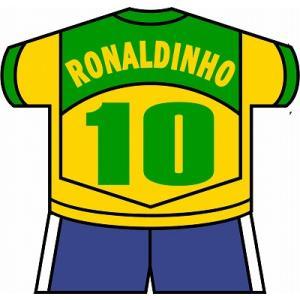 st137 ロナウジーニョ(ブラジル代表) ユニフォーム型ステッカー|footballfan