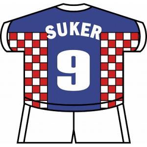 st143 スーケル(クロアチア代表) ユニフォーム型ステッカー|footballfan