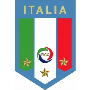 st148  イタリア代表 エンブレム型ステッカー footballfan