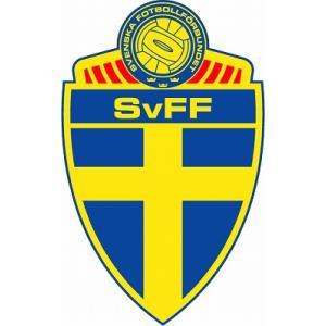 st152 スウェーデン代表  エンブレム型ステッカー|footballfan