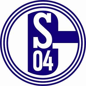 st177  シャルケ エンブレム型ステッカー|footballfan