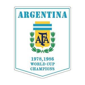 st182アルゼンチン代表 ペナント型ステッカー footballfan