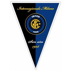 インテルミラノ  トライアングルペナント型ステッカー footballfan