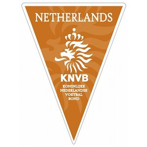 オランダ代表  トライアングルペナント型ステッカー|footballfan