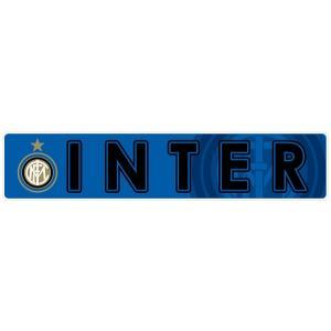 インテルミラノ(青) バンパーステッカー|footballfan